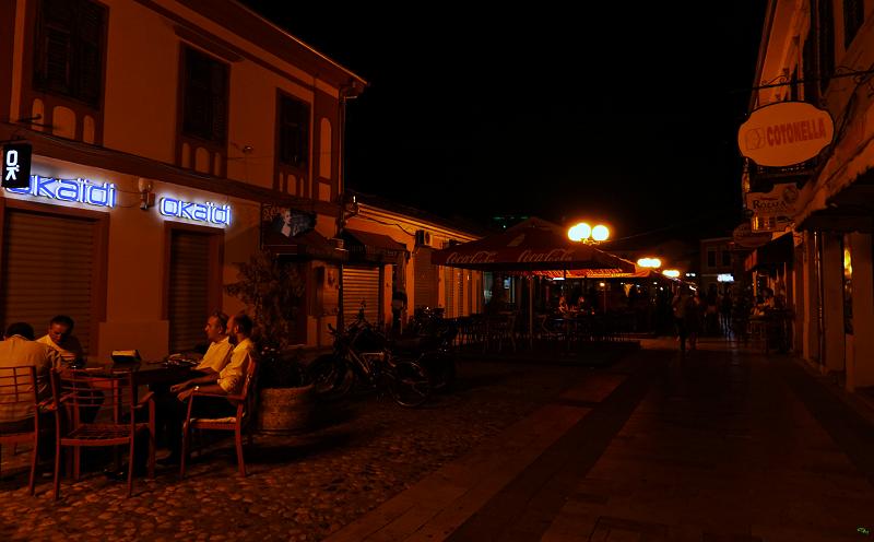 Scutari Vado in Albania centro storico notturno