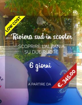 Vacanze in Albania, riviera sud in scooter