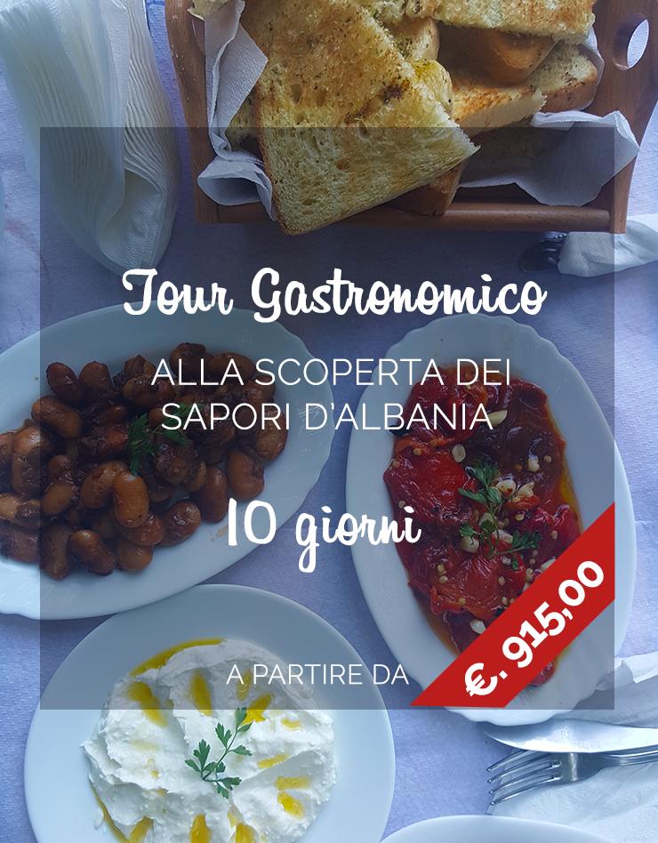 Vacanze in Albania, tour gastronomico dell'Albania