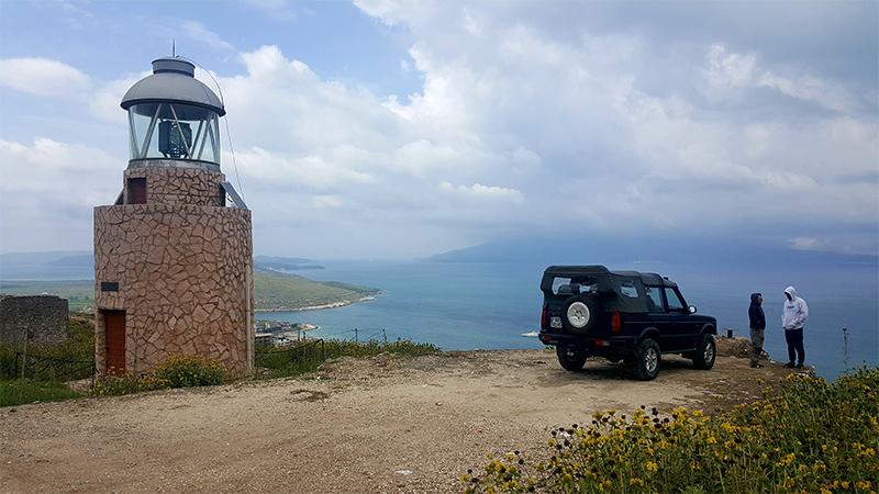 Visitare Saranda, Saranda Jeep. Faro Lekursi