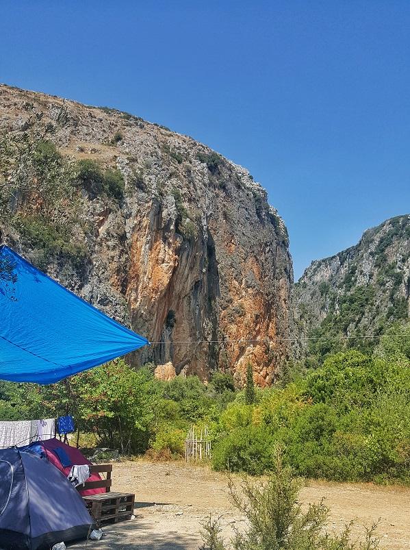 Campeggi in Albania, camping in Albania, Gjipe eco campground