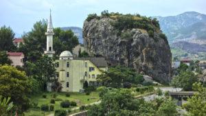 Permet Albania, vista panoramica, moschea